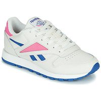 Schoenen Lage sneakers Reebok Classic CL LEATHER MARK Wit / Roze