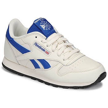 Schoenen Kinderen Lage sneakers Reebok Classic CLASSIC LEATHER Wit / Blauw
