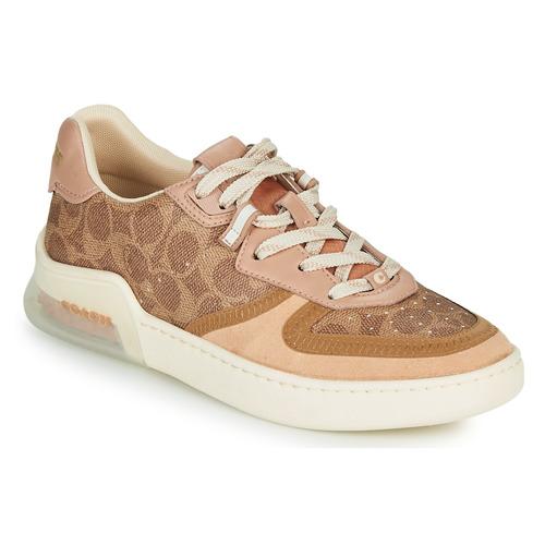 Schoenen Dames Lage sneakers Coach CITYSOLE Cognac / Beige / Nude