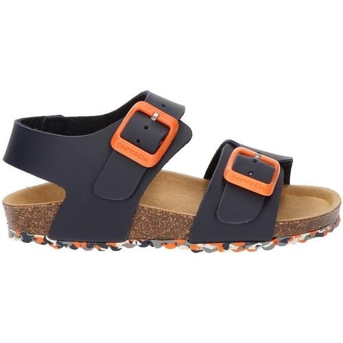 Schoenen Jongens Sandalen / Open schoenen Garvalin BIO TYRION SANDAL MARINEBLAUW