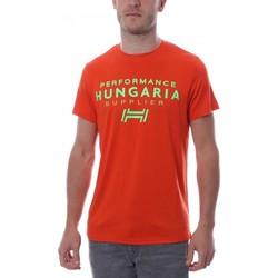 Textiel Heren T-shirts korte mouwen Hungaria  Oranje