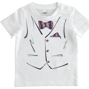 Textiel Jongens T-shirts korte mouwen Ido 4J692 Bianco