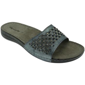 Schoenen Dames Leren slippers Riposella RIP5793blu blu