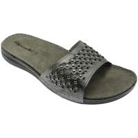 Schoenen Dames Leren slippers Riposella RIP5793acc grigio