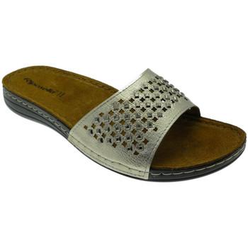 Schoenen Dames Leren slippers Riposella RIP5793pla grigio