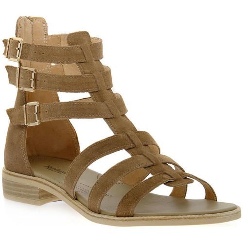 Schoenen Dames Sandalen / Open schoenen NeroGiardini NERO GIARDINI  405 VELOUR CASTORO Beige