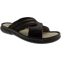 Schoenen Heren Leren slippers Uomodue By Riposella UD780m marrone