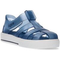 Schoenen Jongens Sandalen / Open schoenen Igor WATEREMMER VOOR KINDEREN BLAUW