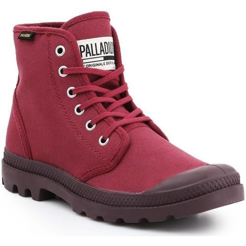 Schoenen Heren Hoge sneakers Palladium Pampa HI Oryginale 75349-604-M burgundy