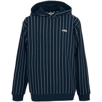 Textiel Jongens Sweaters / Sweatshirts Fila Troya AOP Hoody Kids Blauw