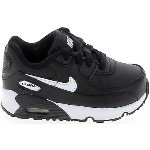 Schoenen Meisjes Lage sneakers Nike Air Max 90 BB Noir Blanc CD6868-010 Zwart