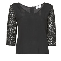 Textiel Dames Tops / Blousjes Betty London NIXE Zwart