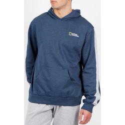 Textiel Heren Sweaters / Sweatshirts Admas For Men National Geographic blauw Admas hoody Blauw