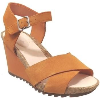 Schoenen Dames Sandalen / Open schoenen Clarks Flex sun Oranje