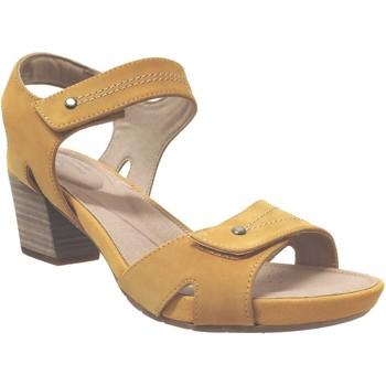 Schoenen Dames Sandalen / Open schoenen Clarks Un palma Nubuck geel
