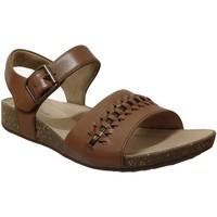 Schoenen Dames Sandalen / Open schoenen Clarks Un periway Bruin leer