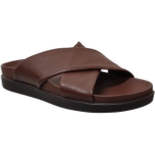 Schoenen Heren Leren slippers Clarks Sunder cross Bruin leer