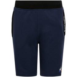 Textiel Kinderen Korte broeken / Bermuda's Le Coq Sportif Ess Short Regular N Blauw