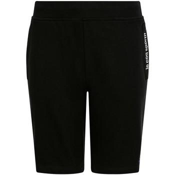Textiel Kinderen Korte broeken / Bermuda's Le Coq Sportif Ess Short Regular N Zwart
