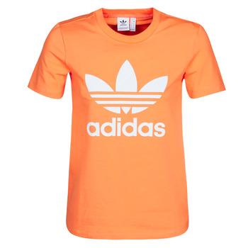 Textiel Dames Sweaters / Sweatshirts adidas Originals TREFOIL TEE Oranje