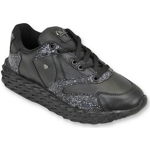 Schoenen Heren Lage sneakers Cash Money Touch Black Zwart