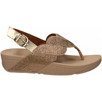 Schoenen Dames Teenslippers FitFlop PAISLEY ROPE BACK STRAP platino