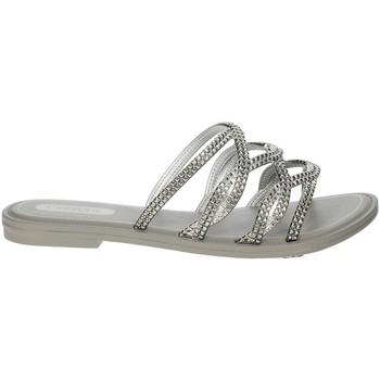 Schoenen Dames Leren slippers Grendha 17629 Silver