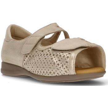 Schoenen Dames Sandalen / Open schoenen Calzamedi SNIJDEND ORTHOPEDISCH SANDAAL BEIGE
