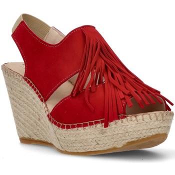 Schoenen Dames Sandalen / Open schoenen Ramoncinas BRUINE ESPADRILLEN APHRODIETRANDEN ROOD