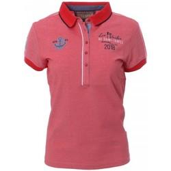 Textiel Dames Polo's korte mouwen Les voiles de St Tropez  Rood