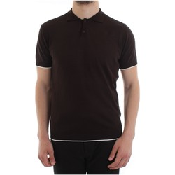 Textiel Heren Polo's lange mouwen Alessandro Dell'acqua AD0482/M0120 Brown