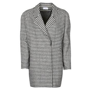 Textiel Dames Mantel jassen Betty London NIVER Zwart / Wit