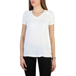 Textiel Dames T-shirts korte mouwen Armani jeans - 3y5h43_5nyfz Wit