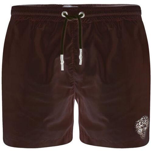 Textiel Heren Zwembroeken/ Zwemshorts Ed Hardy - Roar-head swim short black Zwart