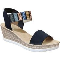Schoenen Dames Sandalen / Open schoenen Rieker 61910 Meerkleurig blauw