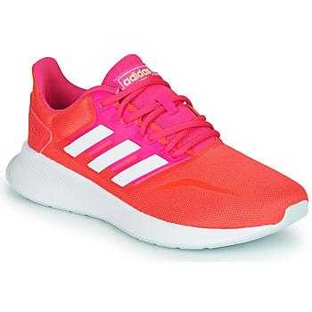 Schoenen Dames Lage sneakers adidas Performance RUNFALCON Rood / Roze
