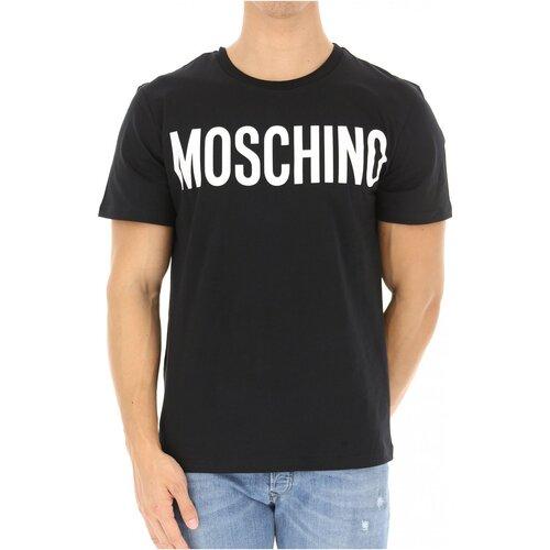 Textiel Heren T-shirts korte mouwen Moschino ZPA0705 Zwart