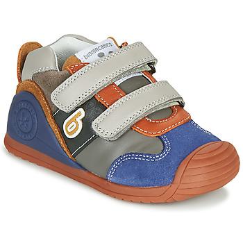 Schoenen Jongens Lage sneakers Biomecanics ZAPATO SPORT VELCRO Grijs / Blauw / Oranje