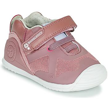 Schoenen Meisjes Lage sneakers Biomecanics ZAPATO ELASTICO Roze