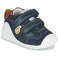 Schoenen Jongens Lage sneakers Biomecanics ZAPATO SPORT VELCRO Marine