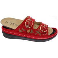 Schoenen Dames Leren slippers Calzaturificio Loren LOB5021ro rosso