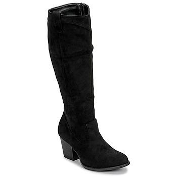 Schoenen Dames Hoge laarzen Moony Mood NOEMA Zwart