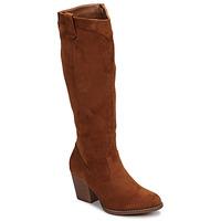Schoenen Dames Hoge laarzen Moony Mood NOEMA Camel
