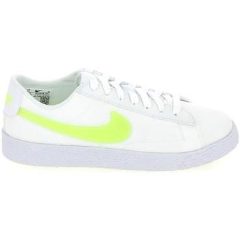 Schoenen Kinderen Lage sneakers Nike Blazer low Jr Blanc Jaune AQ5604-101 Wit