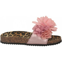 Schoenen Dames Leren slippers Colors of California BIO MAXI FLOWER pink