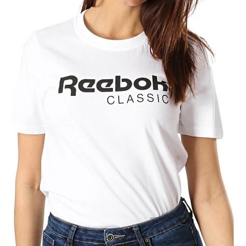Textiel Dames T-shirts korte mouwen Reebok Sport  Wit