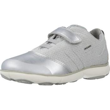 Schoenen Meisjes Lage sneakers Geox J NEBULA GIRL Zilver