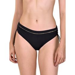 Textiel Dames Bikinibroekjes- en tops Lisca Ancona  Shirred Side Swimsuit Kousen Parelmoer Zwart