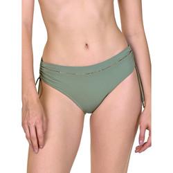 Textiel Dames Bikinibroekjes- en tops Lisca Ancona  Shirred Side Swimsuit Kousen Donkergroen