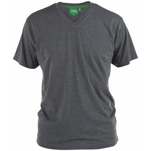 Textiel Heren T-shirts korte mouwen Duke Signature-2 Houtskoolmelange